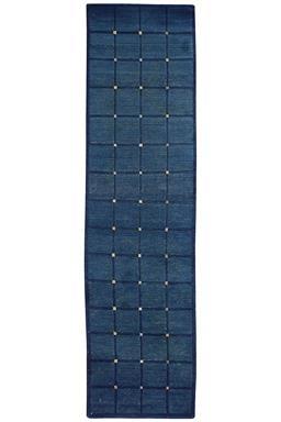 Sale 9090C - Lot 3 - Nepal Indigio Collection Grid, 65X250cm, Tibetan Highland Wool