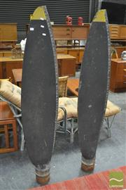 Sale 8326 - Lot 1012 - Pair of Large Timber Plane Props