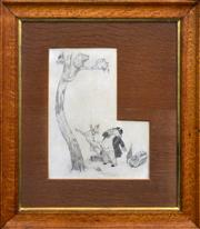 Sale 8408 - Lot 516 - Norman Lindsay (1879 - 1969) - Koala Up a Tree 25.5 x 19.5cm