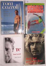 Sale 8431B - Lot 35 - Four Biographies - Mark Richards, A Surfing Legend by David Knox and Tom Carroll; The Wave Within 1994; Nat's Nat and That's That, N...