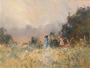 Sale 8713 - Lot 566 - Robert Hagan (1947 - ) - Summer Ladies Day of the Valley 90 x 121cm