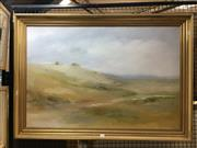 Sale 8754 - Lot 2019 - Ken Taber - Country Landscape oil on canvas board 72 x 103cm (frame)