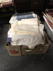 Sale 8819 - Lot 2455 - Box of Quality Linen & Lace