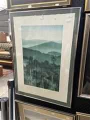 Sale 8895 - Lot 2002 - Peter Hickey, Blue On Green, 1996, colour etching ed.15/30, signed lower right