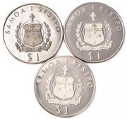 Sale 8937 - Lot 311 - THREE WESTERN SAMOA $1 PROOF SILVER COINS; 2 celebrating 1976 Montreal Olympics, other 1977 Royal Jubilee, wt. 3oz.