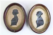 Sale 8994 - Lot 6 - Georgian Pair of Framed Miniatures (length 15.5cm)