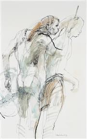 Sale 9063A - Lot 5024 - Margaret Woodward (1938 - ) - Sambuou Warriors, 1991 37.5 x 24 cm (frame: 70 x 51 x 2 cm)