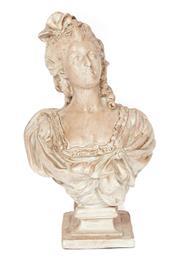 Sale 9087H - Lot 60 - A composition figure of Marie Antoinette. 65cm height