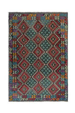 Sale 9090C - Lot 4 - Afghan Mayamana Kilim, 170x260CM, Handspun Ghazni Wool