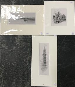 Sale 9103 - Lot 2034 - Set of Three Lithographs incl Tamworth