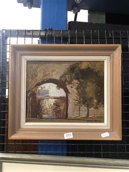 Sale 9139 - Lot 2001 - Colin Parker Argyle Cut, oil ,on board, frame: 30 x 35 cm, signed lower right