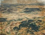 Sale 8561 - Lot 2008 - Alfred Cook (1907 - 1970) - Tasmania Patch Work 31.5 x 41cm