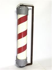 Sale 8600A - Lot 6 - Vintage barber pole with metal bracket, H 56 x L 15cm.