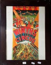 Sale 8678 - Lot 2059 - Wirths Circus Print