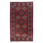 Sale 8870C - Lot 14 - Antique Caucasian Soumak Carpet, in Handspun Wool Circa 1940, 360x206cm
