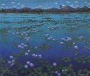 Sale 8901 - Lot 513 - David Badcock (1960 - ) - Purple Haze, 1998 125.5 x 145 cm