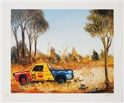 Sale 8941 - Lot 2001 - Kevin Charles (Pro) Hart (1928 - 2006) - The Ute Race 48 x 58 cm (sheet)