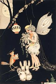 Sale 9013 - Lot 573 - Margaret Clark (1901 - 2001) - A Fairy Wedding 25 x 17 cm (frame: 43 x 32 x 2 cm)