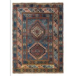 Sale 9090C - Lot 5 - Antique Caucasian Karabagh, Circa 1940, 125x175cm, Handspun Wool