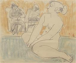 Sale 9123J - Lot 87 - Margaret Olley Nude Studies mixed media 42x51cm signed & dated 68 lower right.