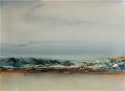 Sale 9133 - Lot 517 - Geoffrey Dyer (1947 - 2020) Shallow Water, Binnalong Bay I watercolour 54.5 x 74 cm (frame: 77 x 96 x 2 cm) signed lower right