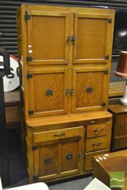 Sale 8287 - Lot 1033 - 1920s Hygena Hoosier Style Kitchen Cabinet (Liverpool, UK)