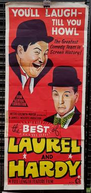 Sale 8566 - Lot 1084 - Poster The Best of Laurel & Hardy