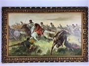 Sale 8607R - Lot 69 - Artist Unknown - Oil on Board, unsigned (46 x 79cm)