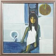 Sale 8720 - Lot 2029 - Artist Unknown - The White Dress 74.5 x 74.5cm
