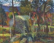 Sale 8821 - Lot 582 - George Duncan (1904 - 1974) - Bush Cabin 39.5 x 49.5cm