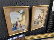 Sale 9041 - Lot 2028 - George Baxter (2 works), Queen Victoria and Prince Albert, oil prints