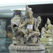 Sale 8306 - Lot 23 - Brass Buddha Figure