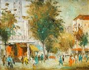 Sale 8503 - Lot 2012 - Wilmotte Williams (1916 - 1992) - Sydney Street Scene 30.5 x 38cm