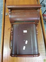 Sale 8566 - Lot 1049 - Oak Cased Wall Phone