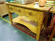 Sale 8648 - Lot 1020 - Tiered Rustic Hall Table with Three Drawers