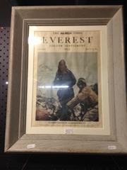 Sale 8663 - Lot 2071 - The Times Colour Supplement Print: Everest, 1953 50.5 x 40cm