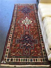 Sale 8863 - Lot 1079A - Soumak Sirjan with Bird Motifs (270 x 107cm)