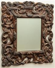 Sale 8976H - Lot 94 - Carved and gessoed floral framed Mirror 57x49