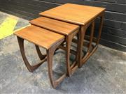 Sale 9039 - Lot 1077 - Nathan Quadrille Teak Nest of Tables (H50 x W48 x D48cm)