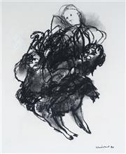 Sale 9063A - Lot 5025 - Margaret Woodward (1938 - ) - Goat Herder, 1994 24 x 19.5 cm (frame: 51 x 46 x 2 cm)