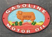 Sale 9051 - Lot 1083 - Reproduction Golden Fleece Cast Iron Plaque