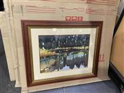 Sale 9082 - Lot 2059 - Artist Unknown Lake Reflections watercolour 73 x 88cm (frame) unsigned