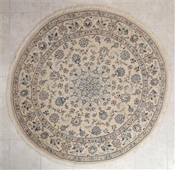 Sale 9155H - Lot 4 - A machine made roundel carpet with floral design, Diameter 200cm