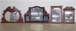 Sale 9191 - Lot 1038 - Collection of 4 timber framed mirrors
