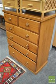Sale 8289 - Lot 1085 - Timber Chest of Six Drawers