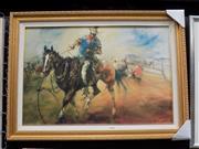 Sale 8417T - Lot 2004 - Hugh Sawrey - The Bronco Horse 51 x 76cm