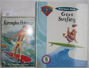 Sale 8431B - Lot 38 - Two Children's Books - Fae Hewston Stevens, Koronglea Holidays, Chapter 21. A Visit to Surf Beaches. Cover pictorial. Ward Lock & Co...