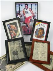 Sale 8450S - Lot 780 - Assortment of Boxing Cuttings, framed (8)