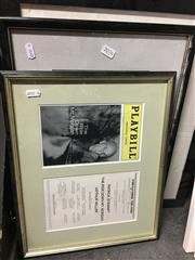 Sale 8674 - Lot 2076 - 3 Memorabilia Works: Signed Playbill for The Ride Down Mount Morgan; Signed Othello Poster & Another Work