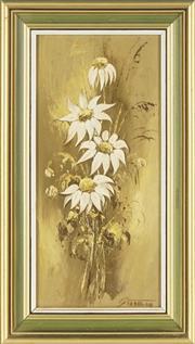 Sale 8807 - Lot 2039 - Zdeny Stodulka (1920 - 2009) - Flannel Flowers 28 x 12.5cm